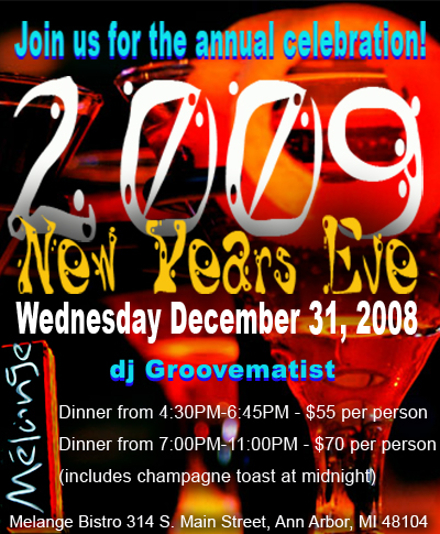 melange new years eve web advertisement
