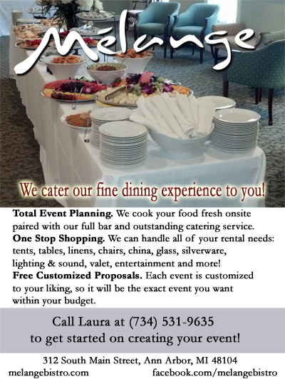 melange catering print advertisement